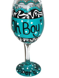 Baby Shower Glass  Hand Painted Wine Glass  by BeyondTheBarrel, $16.00