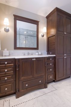 Bathroom appliance garage