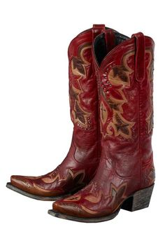 Lane Women's Red Stella Cowgirl Boots