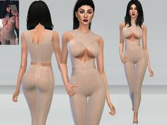 Sims 4 CC's - The Best: Kylie Jumpsuit by Puresims