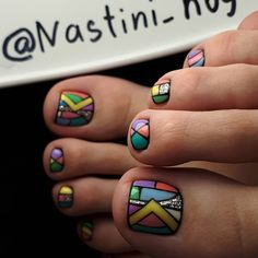 25 Fun Toenail Designs Nail-Art Lovers Will Appreciate Nail Desing nail design for toes Pedicure Designs, Pedicure Nail Art, Simple Nail Art Designs, Best Nail Art Designs, Toe Nail Designs, Beautiful Nail Designs, Toe Nail Art, Nail Art Diy, Pedicure Ideas