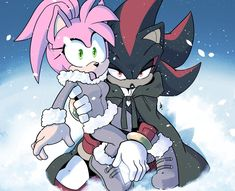 Shadow And Maria, Shadow And Amy, Shadow The Hedgehog, Sonic The Hedgehog, Sonic Fan Art, Amy Rose, Coraline, Anime Couples, Little Girls