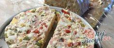 Recept Velikonoční vajíčková tlačenka Mayonnaise, Remoulade, Quiche, Breakfast, Food, Party, Top Recipes, Red Bell Peppers, Peanut Butter