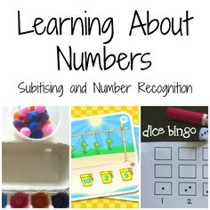 Learning about numbers - subitising and number recognition   Octavia and Vicky