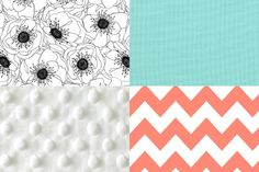 coral baby 5piece bedding by iviebaby on Etsy, $290.00