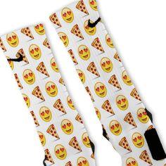 We custom design and print all of our Pizza Lover Emoji Custom Nike Elite Socks Custom Nike Elite Socks. We print all orders on demand and no two pairs are identical. Nike Elite Socks, Nike Socks, Fun Socks, Adidas Outfit, Nike Outfits, Work Outfits, Adidas Shoes, Summer Outfits, Casual Outfits