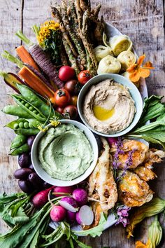 The New Crudité Platter - super yummy and super healthy, combined with a slight trace of fried indulgence... perfect! From halfbakedharvest.com