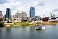 Cincinnati Skyline with Riverboat Photography