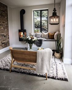 10 Beautiful Rooms: wood burning stove by shnordic Interior Design Living Room, Living Room Decor, Living Spaces, Living Room Ideas Uk, Dining Room, Cozy Corner, Cozy Nook, Home And Deco, Scandinavian Style