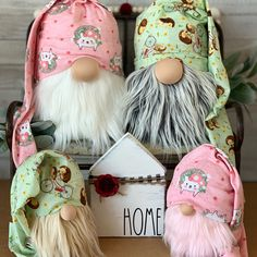 The gnomes are busy making masks! Spring Crafts, Easter Crafts, Holiday Crafts, Creative Crafts, Fun Crafts, Diy Crafts To Sell, Gnome House, Gnome Door, Christmas Gnome
