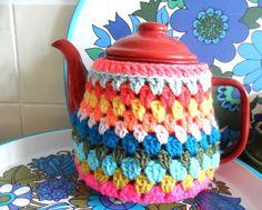 ❥Knit & Crochet Tea Cosies, Mug Hug Snugs and Cuppa Cosies. teawagontales