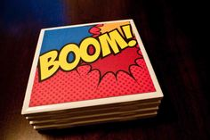 Comicon on a Coaster Coasters Set of Four by DFandC on Etsy, $16.00