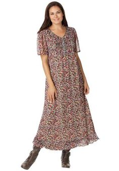 Plus Size Dress, in floral print