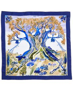 "Spotted this Hermes ""Kuggor Tree"" by Kwumi Sefedin Silk Scarf on Rue La La. Shop (quickly!)."