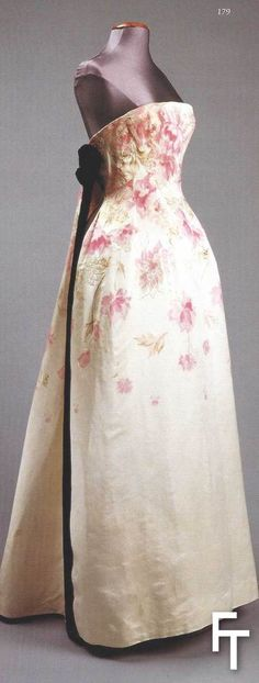 Pierre Balmain, evening gown, late 60s,