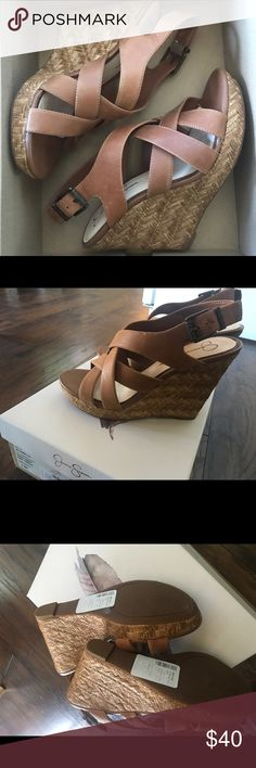 Jessica Simpson wedges These Jessica Simpson wedges are size 9.5. These have never been worn. Jessica Simpson Shoes Wedges