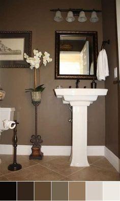 mesmerizing bathroom paint colors 2020 | Small bathroom with earth tone color scheme ...