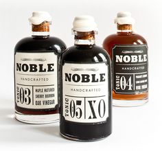"""""""Nobel Handcrafted is a brand that embraces the collaboration of craft with the pioneering of our new American food tradition, a tradition that is being continually refined."""" Design by Heather Nguyen."""