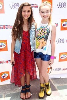 CoolDis411 Sabrina Carpenter And Rowan Blanchard Super Cute At The 7th Annual Kidstock Music And Art Festival