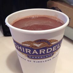 Grown Up Hot Chocolate Recipe from Ghirardelli Soda Fountain and Chocolate Shop at Disney Springs in Disney
