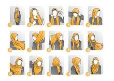 wearing hijab step by step