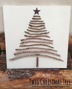 Learning, Creating, Living.: Twig Christmas Tree. ☀CQ #christmas
