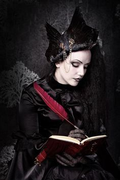 Gothic Fashion / Woman / Black Dress / Jewelry / Dark Photography / Gothique Girl // ♥ More at: https://www.pinterest.com/lDarkWonderland/