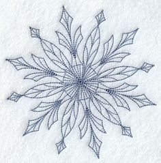 Intricate Snowflake B Embroidered Flour by EmbroideryEverywhere