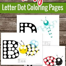 Bug Letter Dot Marker Coloring Pages