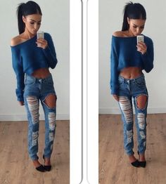Get these ripped jeans at SHOPTOYBOX.COM
