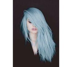 pastel blauw haar