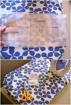 Iron interfacing onto the back of a pattern you want to re-use to make it last longer.