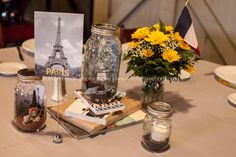 Travel themed DIY Centerpieces