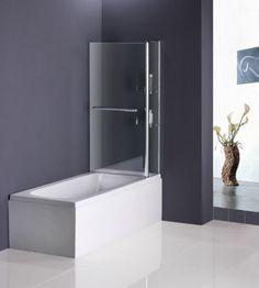 Badewanne Aufsatz 180° Duschwand Trennwand Duschabtrennung 100x140cm mit Handle | eBay