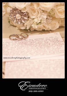 Handwritten vows! So romantic and make for a great picture.
