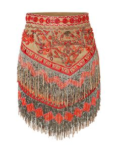 The ultimate in global luxe, Emilio Pucci's fringe and bead embellished mini is a high-style take on Boho-chic #Stylebop