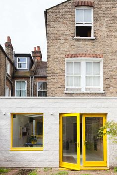 "FIRM: nimtim architects; PROJECT: Yellow House; LOCATION: London, England.  Additions to a ground floor Victorian flat on a limited budget that uses color, simple materiality and creating flexible spaces to get the ""most bang for the buck."""