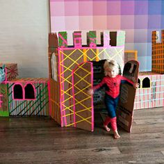 masking tape decorated fort