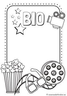 Vi växer så det knakar - Barnens bio – stenciler för rollek med biotema Diy For Kids, Crafts For Kids, Activity Sheets, Teaching English, Just Do It, Signs, Diy And Crafts, Preschool, Doodles