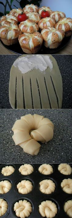 Saving this just for the cute bread design idea... No idea what the recipe entails.