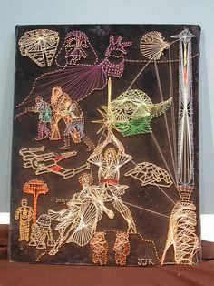 Star Wars String Art by bonniegrrl. This is impressive! Disney String Art, Nail String Art, String Art Templates, String Art Patterns, Bead Patterns, Regalos Star Wars, Anniversaire Star Wars, Star Wars Crafts, Thread Art
