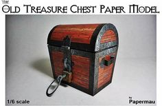 Construction Report - The Old Treasure Chest Paper Model In 1/6 Scale by Papermau - == -  Here is a little construction report of the Old Treasure Chest Paper Model In 1/6 Scale. I hope this helps those who want to assemble it. In the end of this post you will find the link to download the templates of this model. Download easily, directly from Google Docs. Have fun!