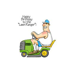 Art Impressions - People Collection - Unmounted Rubber Stamp Set - The Lawn Ranger Happy Birthday Wishes Sister, Happy Birthday Funny, Birthday Love, Birthday Cards For Men, Birthday Quotes, Birthday Greetings, Birthday Humorous, Birthday Posters, Bday Cards