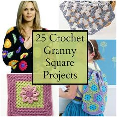 25 Crochet Granny Square Projects