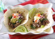 Salsa Verde Beef Tacos | The Girl Who Ate Everything