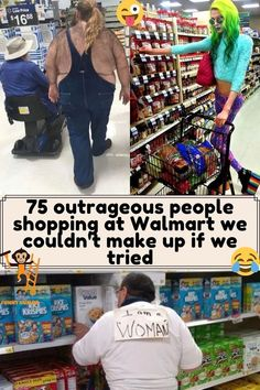 Weird People At Walmart, Go To Walmart, Wtf Funny, Funny Humor, Funny Stuff, Random Stuff, People Shopping, Crazy People, Viral Videos
