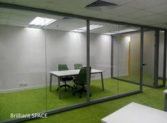 Glass System Wall 新蒲崗勤達中心 (1框雙清玻璃屏風) 6