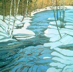 Neil Welliver, Blue Duck Trap, 1998