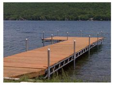Beautiful lake docks on the shores of Keuka Lake in the Finger Lakes of New York.
