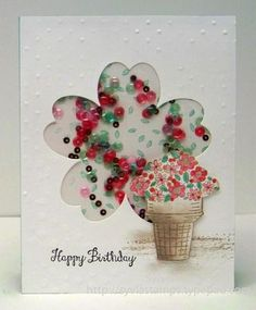 Sylvia's Stamping Corner: ColourQ Challenge # 334 March 2016 Shaker Card